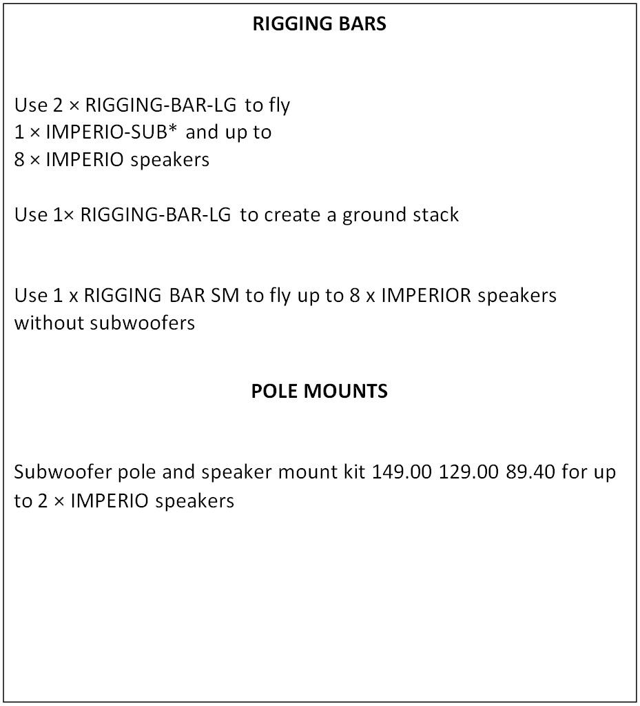 Avante Imperio Mini Line Array Speakers