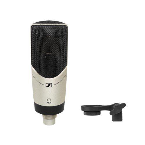 Sennheiser MK4 condenser microphone with clip