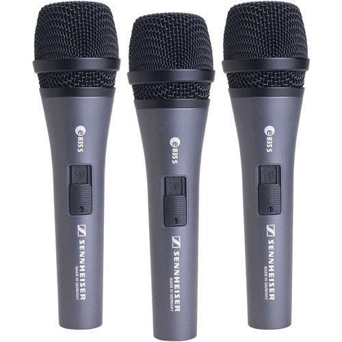 Sennheiser e835-S 3-Pack dynamic cardioid microphone