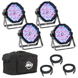 ADJ Mega Flat 4 Pak Plus DJ Lighting
