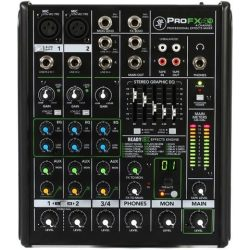 Mackie ProFX4v2 4-ch Pro Effects Mixer 3